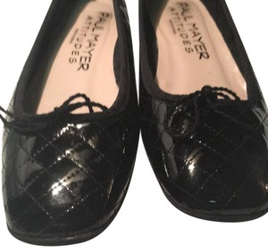 Paul Mayer Quilted Leather BLACK PATENT Flats