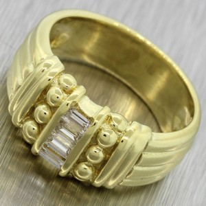 Judith Ripka Judith Ripka 18K Yellow Gold .27ctw Baguette Diamond Cocktail Ring