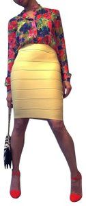 Romeo & Juliet Couture Bandage Under 50 Chic Trendy Going Out Skirt yellow