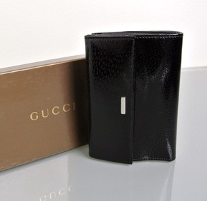 Gucci New GUCCI Patent Leather Wallet w/Coin Purse New In Box! 143388