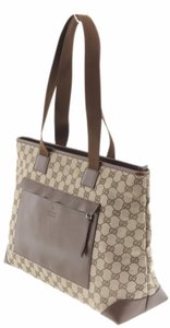 Gucci Wallet Leather Tote in Brown