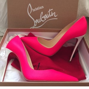 Christian Louboutin Pink and white Pumps
