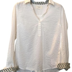Anthropologie Button Down Shirt White