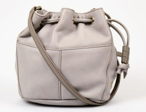 Cole Haan Leather Drawstring Bucket Cross Body Bag