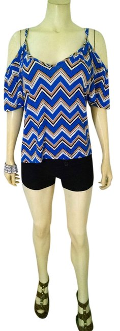 Kiwi Loose Fit Size Large Summersale Top black, beige, white, blue