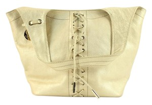 Stuart Weitzman Metallic Pebbled Leather Shoulder Bag