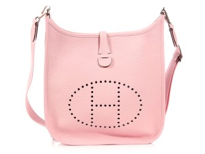 Herms Hr.k1003.03 Iii Pm Togo Pink Cross Body Bag