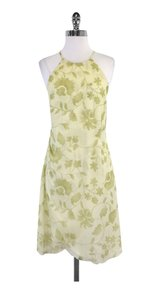 Giorgio Armani short dress Light Green Leaf Print on Tradesy