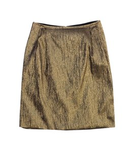 Dries van Noten Metallic Gold Black Skirt