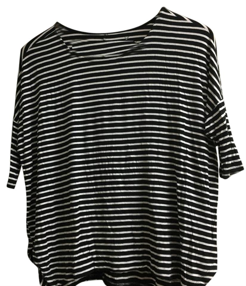 f011965c961 American Eagle Outfitters T Shirt Black and White Stripes Image 0 ...