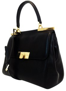 Michael Kors Marlow Medium Satchel in Black