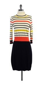 MILLY short dress Solid Striped Sweater on Tradesy