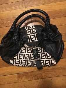 Fendi Spy Leather Monogram Shoulder Bag
