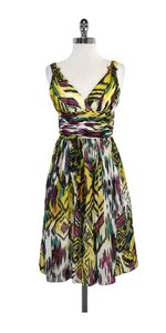 Carmen Marc Valvo short dress Yellow Empire Waist Silk on Tradesy