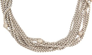 David Yurman Eight Row Diamond Ball Choker