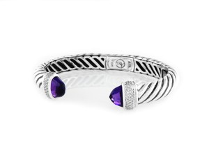 David Yurman Sculpted Cable Bracelet with Amethyst and Diamonds