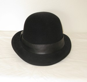 Eugenia Kim EUGENIA KIM BARNEYS NEW YORK MEN'S TRILBY DERBY HAT FEDORA LEATHER