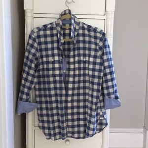 Madewell Button Down Shirt Blue Gingham