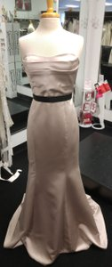 Badgley Mischka Formal Modern New Satin Champagne Dress