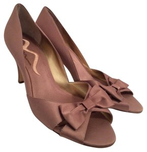 Nina Shoes Mauve Heels Bow Heels Pink Heels Blush Heels Bow Heels Formal