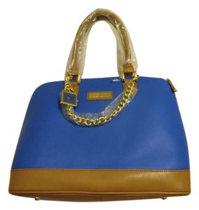 Joy & IMAN Satchel in Denim Blue