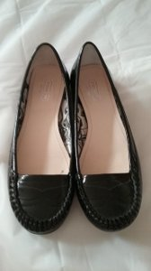 Coach Hardly Used Black patent leather Flats