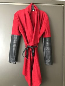 BB Dakota Sweater Leather Belt Long Cardigan