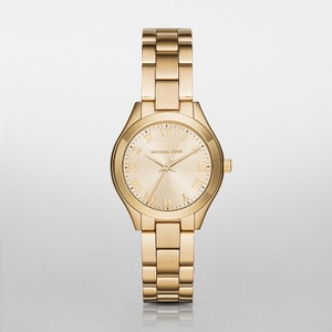 Michael Kors Michael Kors Gold Slim Runway Watch MK3456