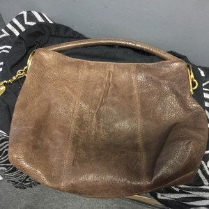 Donna Karan Lambskin Gold Hobo Bag