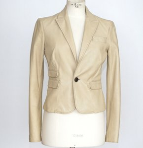 Dsquared2 Lambskin Leather NUDE Leather Jacket