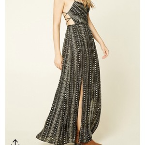 Black & Beige Maxi Dress by Forever 21