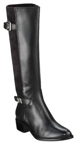 Cole Haan Leather Equestrian Knee High Black Boots