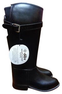 däv Equestrian Water-resistant New Rain Stretch Black Boots