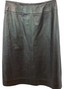 Jones New York Brown Leather Skirt