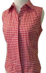 Façonnable Button Down Shirt Red and white
