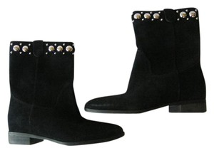 Michael Kors Suede Leather Black Boots