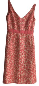 J.Crew short dress Cream with melon/pink details on Tradesy