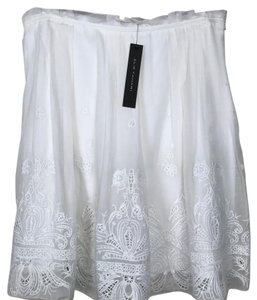 Elie Tahari Ellie Nwt Skirt White