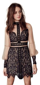 For Love & Lemons Mini Pencil Sheer Lace Dress