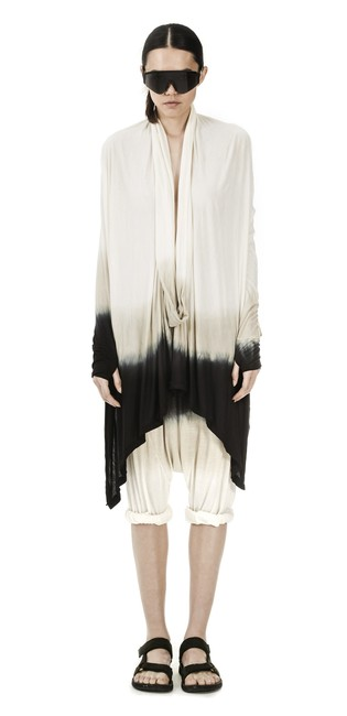 Item - Onyx Off White Sand Ombre L Fabulous Iconic Serius Tee New Tunic Size 10 (M)