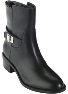 Cole Haan Leather Moto Black Boots