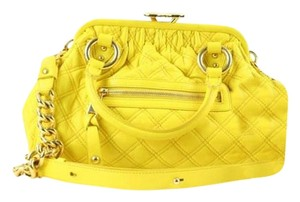 Marc Jacobs Yellow Satchel Kisslock Shoulder Bag