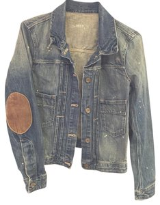 Gap Distressed Bleach Elbow Denim Womens Jean Jacket