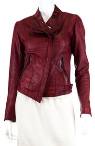 Andrew Marc Leather Red Leather Jacket