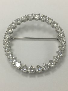 Cartier Cartier Platinum & Diamond 1.00ctw Circle Brooch Pin