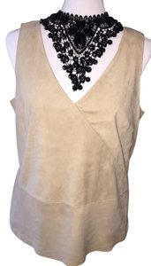 Ralph Lauren Suede Sleeveless Free Shipping Size Large Top