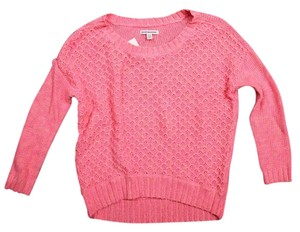 American Eagle Outfitters Pink Cropped Sewater Sweater