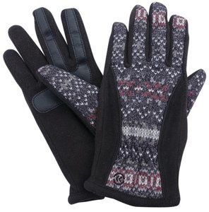 Isotoner Geometric Matrix Fleece Nylon smarTouch THERMAflex Gloves M L