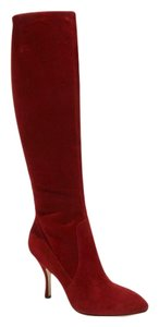 Via Spiga Knee High Tall Boot Red Boots
