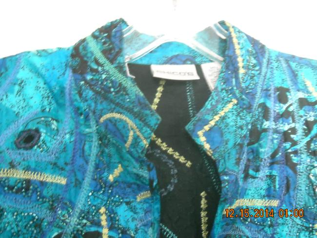 Chico's Top MULTI SHADES OF BLUE